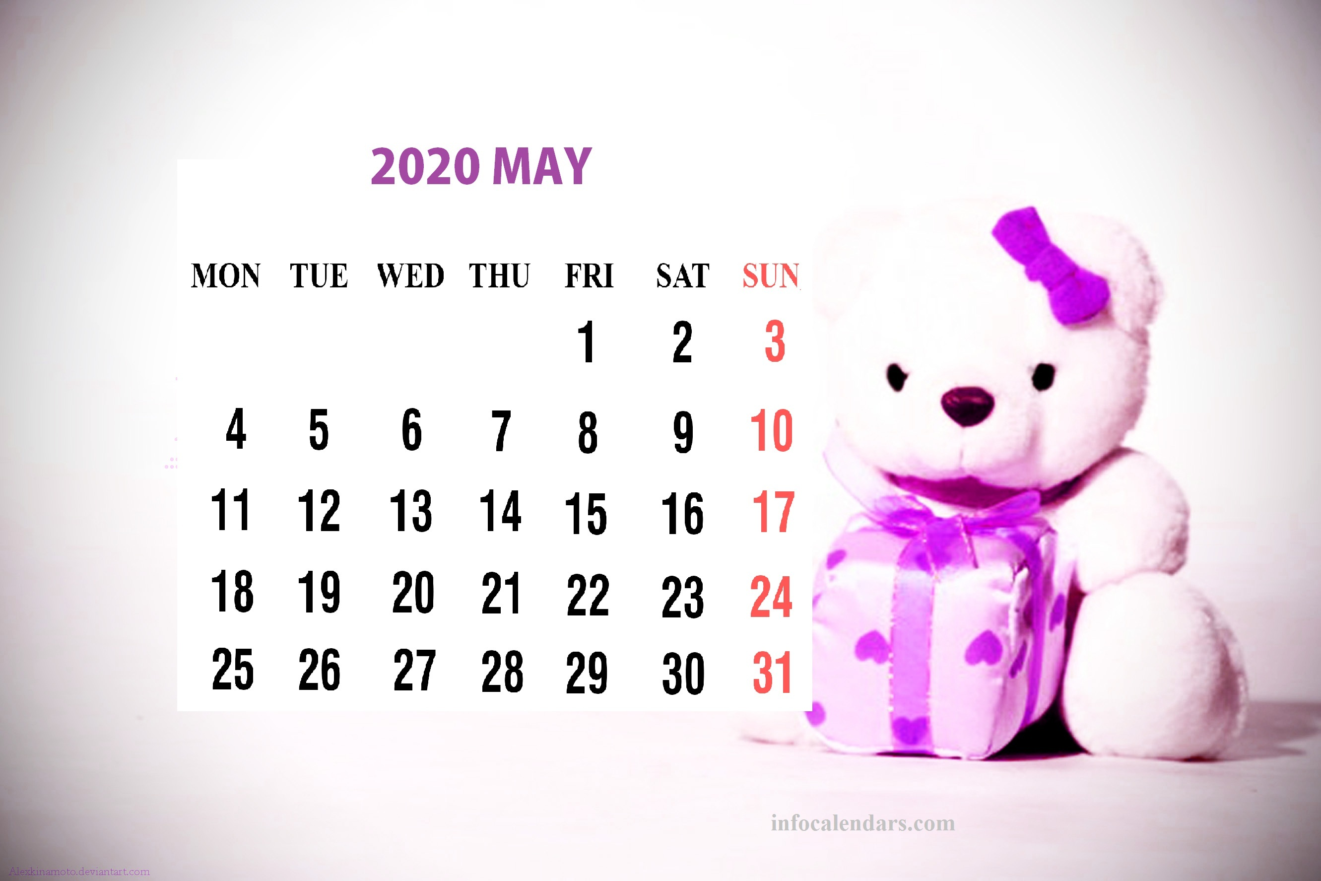 Cute May 2020 Calendar For Kids