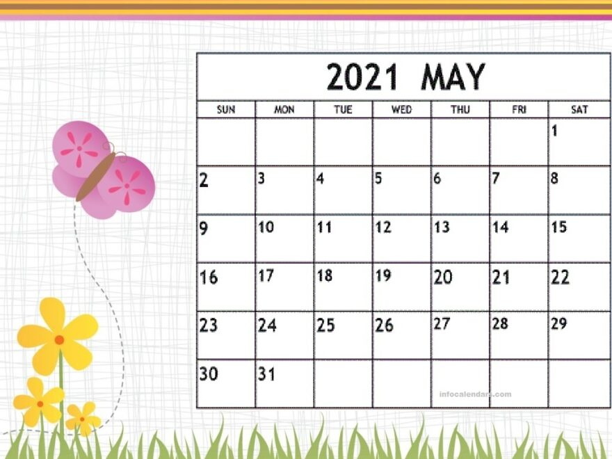 Cute May 2021 Calendar Images